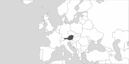 Map of Area Austria