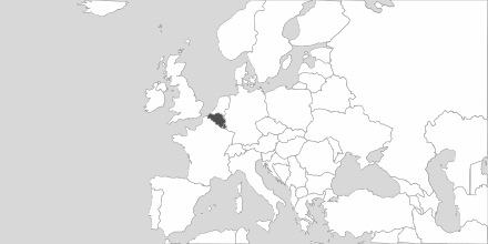 Map of Area Belgium & Luxembourg