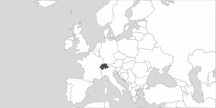 Map of Area Switzerland