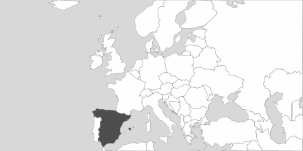 Map of Area Spain