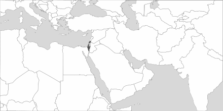 Map of Area Israel
