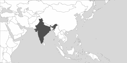Map of Area India