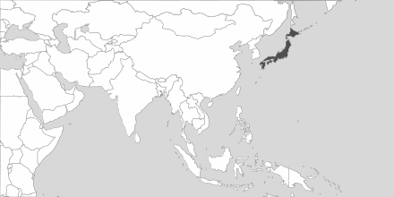 Map of Area Japan