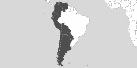Map of Area Latin America