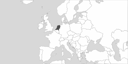 Map of Area The Netherlands
