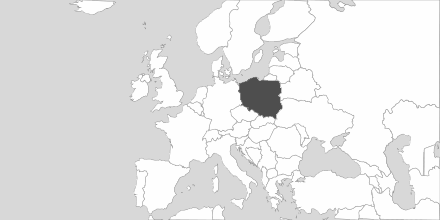 Map of Area Polska