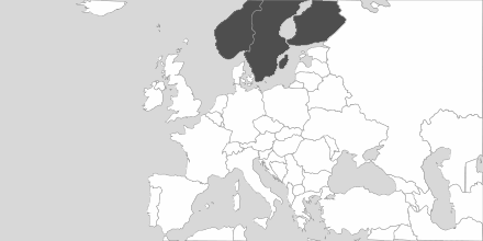Map of Area Scandinavia