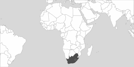 Map of Area South Africa